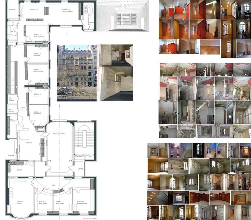 amenagement des bureaux de la carpv paris 8 me. Black Bedroom Furniture Sets. Home Design Ideas