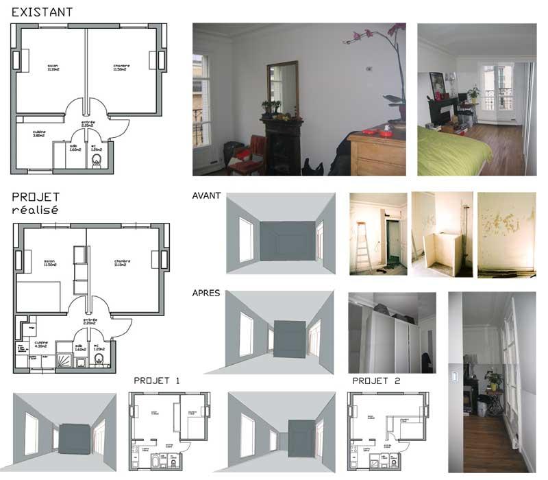 restructuration d 39 un appartement paris 12 me ile de france. Black Bedroom Furniture Sets. Home Design Ideas